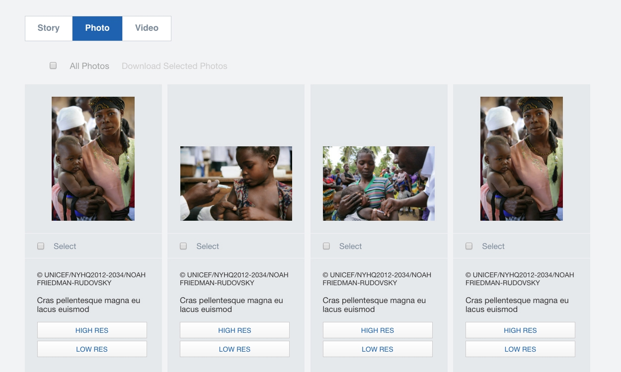<p>Country offices can share Human Interest Materials including stories, photos, and videos.</p>