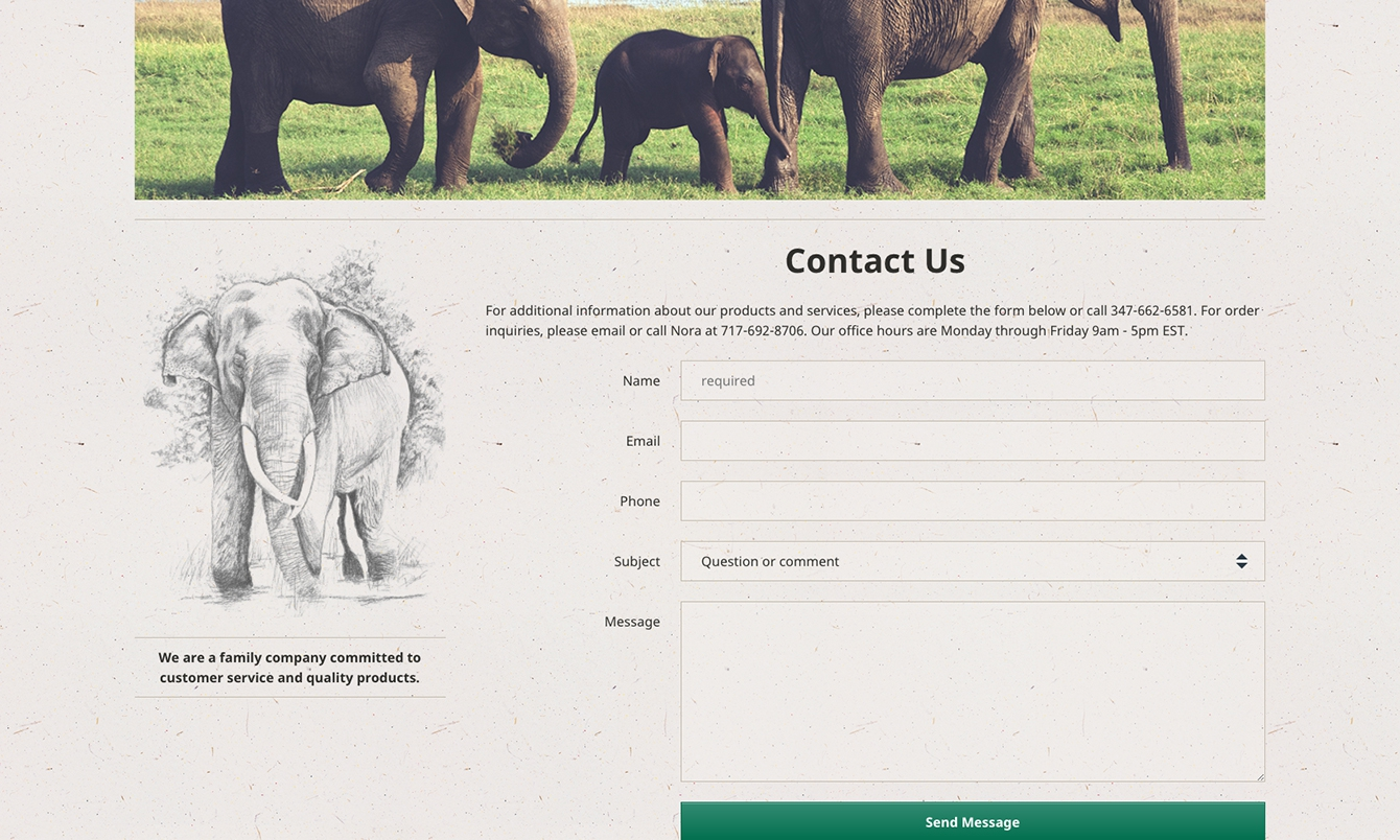 <p>Acrossthe website, all forms and tables are styled correctly to ensure usability.</p>