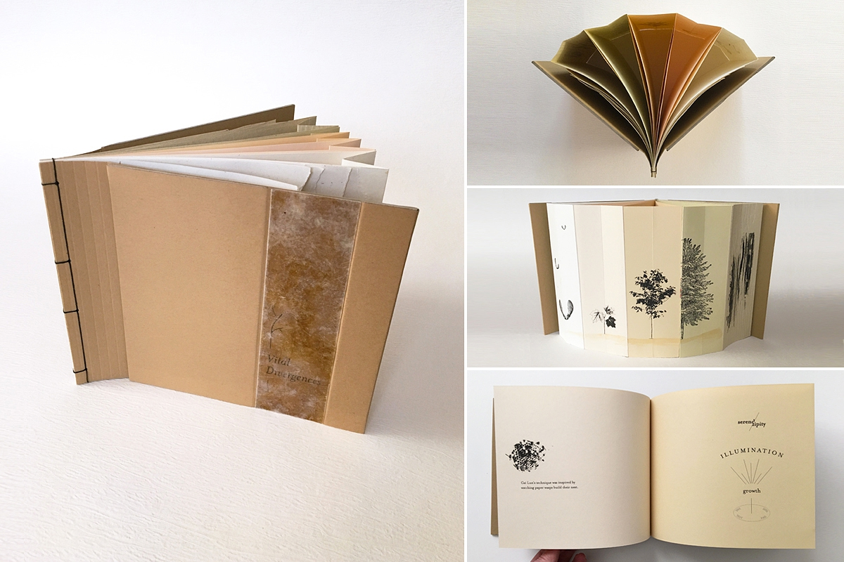 Vital Divergences, an artist book created by Janet Guertin
