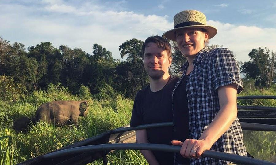 Carl Avidano and Jenny Foreman in Sri Lanka