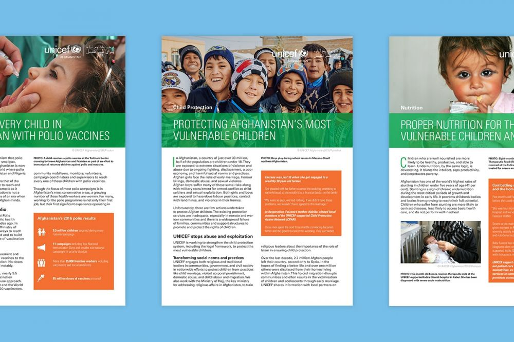 Designing Quality Programme Briefs for UNICEF Afghanistan